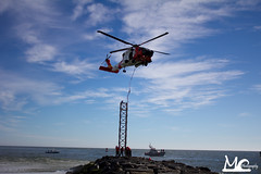 (Mick Chester Photography) Tags: ocean city light beach coast md guard maryland marker inlet beacon jayhawk helo uscg
