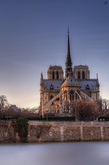 Sunset On Notre Dame (J.P | Photography) Tags: life longexposure sunset sea wallpaper paris apple seine photoshop 50mm mac aperture nikon raw angle 14 ps notredame cathdrale jp nikkor crpuscule quai hdr hdri tourisme touristique photographe quaideseine photomatix poselongue jpphotography d7000 djpig91