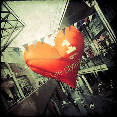 life styled (fotobananas) Tags: life texture liverpool shopping one heart saturday lifestyle shoppingcentre inflatable shoppingmall fujifilm herz cliche styled hcs liverpoolone f31fd skeletalmess fotobananas