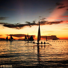 Boracay Sunset (Ed Kruger) Tags: ocean travel pink blue sunset red sea sky people orange sun holiday seascape reflection water sunshine silhouette yellow clouds gold evening boat fishing fisherman october asia southeastasia waves ship niceshot asians fishermen yacht horizon philippines wave sunny vessel boating sail boracay fishingboat allrightsreserved admiralty caticlan banka yachting skyphoto cargoship 2011 boracayisland travelasia peopleofasia asiancities shipphoto edkruger asiancountries photoofocean cultureofasia photosofasia photosofthesky