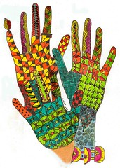 Artsy Hands (Marguerite1997) Tags: patterns zentangle lineweaving inspirejournal bookofdaysjournal