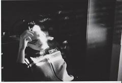 Smaterializzazione (filofede) Tags: white black film me pentax super e bianco ilford nero luce fumo