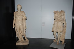 Statues on display at The Colosseum in Rome, Italy (Corvair Owner) Tags: november italy rome building sports sport construction ancient roman ruin historic colosseum arena gladiator collosseum romeitaly contests 2011
