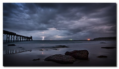Catherine Hill Bay (Colin_Bates) Tags: seascape sunrise bay coast hill central catherine nsw lightning coal loader storms