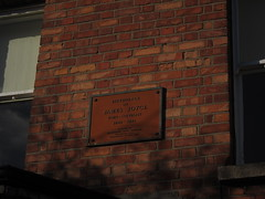 Photo of James Joyce yellow plaque
