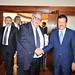 Ο Αντιπρόεδρος της Κυβέρνησης, Θεόδωρος Πάγκαλος, με τον Υπουργό Οικονομικών του Κατάρ, κ. Καμάλ.