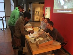 Handling pottery in Archaeology in Action