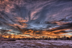 Sunrise with a trace of Snow (Thad Roan - Bridgepix) Tags: snow sunrise colorado denver littleton 201201