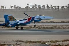 Day 21 - 2012 - SU-27 Landing (Clint30) Tags: show plane canon airplane eos rebel bahrain air landing international knights russian t3i su27 airbrake project365