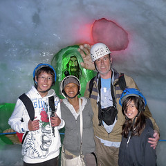 Cave explorers meeting the Neanderthal~! (Bn) Tags: world blue winter summer vacation people mountain 3 snow alps cold ice nature sport geotagged austria climb tirol oostenrijk chair crystals skiing natural iii natur transport large tourist panoramic glacier adventure formati