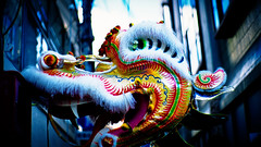 Dragon Dance (moaan) Tags: canon 50mm chinatown dof bokeh kobe utata tradition 2012 doragon f095 fujiprovia100f chinesefestival canon7 canon50mmf095  yearofdragon gettyimagesjapan12q1
