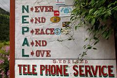 N-E-P-A-L (Michał Olszewski) Tags: nepal sign architecture asia land himalayas acap gandaki architecturalfeature kaski annapurnaconservationarea annapurnaconservationareaproject
