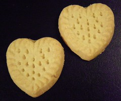 351/365:  Shortbread Hearts (MountainEagleCrafter) Tags: two cookies hearts pair delicious treat picnik day351 project365 3661 351365 365community thethingswesee 2011yip 3652011 365the2011edition project36612011365 12172011 project365171211 project36517dec11 project752121711