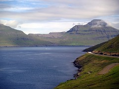 Faroese landscape (Jaedde & Sis) Tags: føroyar 2005 vágoy vågø road cliffs fotobronze fotocompetitionbronze pregamesweepwinner challengefactorywinner thechallengefactory bigmomma storybookwinner 15challengeswinner thumbsup pregameduelwinner twothumbsup herowinner