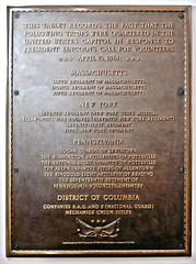 Civil War Troops Quartered in the Capitol Plaque (USCapitol) Tags: plaque abraham lincoln marker