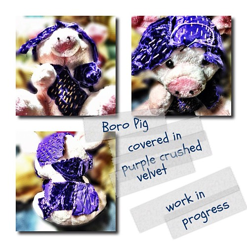Boro pig #boro #fiberart #textileart #louisiana #shreveport #kathrynusher #workinprogress