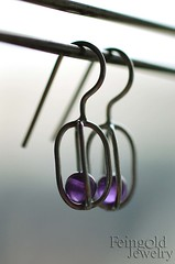 Gravity Collection: Sterling Silver Earrings with Floating Amethyst (feingoldjewelry) Tags: silver purple handmade stones contemporary floating jewelry kinetic sterling earrings amethyst feingold