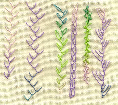 TAST2012 Feather (Big Island Rose Designs) Tags: sampler embroidery featherstitch tast2012