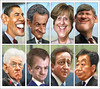 G8 Leaders (January 2012) Caricatures