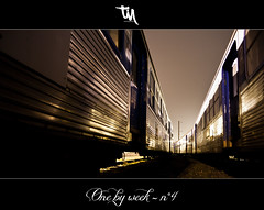 One by Week #4 - Trains (tim_hxc) Tags: railroad night canon project eos tim d rail railway trains 400 depot week nuit 52 sncf projet ambiance ter manteau semaines portfolio52