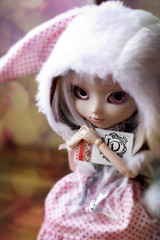 Thank youu Azazelle  (Rainbow Magical Orchestra ) Tags: pink white cute rabbit dolls little bokeh mint adorable dal sanrio melody coco ren pullip lovely cuuute poupes verveine joujou my azazelle pomky
