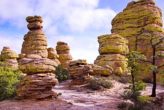 Balanced Rock trail - Chiricahua National Monument (Al_HikesAZ) Tags: county camping arizona usa monument rock big hiking path az hike adventure formation trail national rhyolite cochise balanced hoodoos chiricahuas tuff welded rockformation chiricahua balancedrock cochisecounty weldedtuff chiricahuanationalmonument balancedrocktrail azhike alhikesaz earthnaturelife