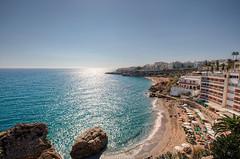 Beach  Playa de la Caletilla, Nerja (Mlaga, Spain), HDR (marcp_dmoz) Tags: