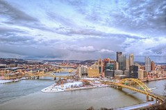 Pittsburgh from the Duquesne Incline HDR (Dave DiCello) Tags: winter snow photography nikon pittsburgh mtwashington blizzard hdr highdynamicrange incline threerivers burgh pittsburghskyline duquesneincline steelcity yinzer pittsburghbridges cityofbridges theburgh pittsburgher colorefex d700 ononesoftware nikond700 thecityofbridges pittsburghphotography pittsburghcityofbridges steelscapes perfecteffects picturesofpittsburgh cityofbridgesphotography