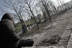 Sonnenbad, oder? (abbilder) Tags: berlin prenzlauerberg mauerpark people menschen nikon d300 1685 1685vr leute prenzlberg lr3 lightroom raw color abbilder wwwabbildercom bäume baeume laub man mann kalt cold