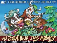 Affiche Festival Au Bonheur des Mômes - 2012