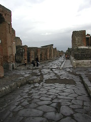 "Chariot ruts at Pompeii • <a style=""font-size:0.8em;"" href=""http://www.flickr.com/photos/75865141@N03/6814808779/"" target=""_blank"">View on Flickr</a>"
