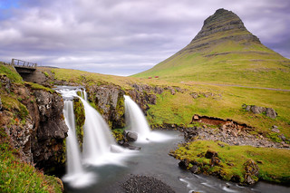 Kirkjufell (and waterfall) in Iceland