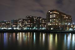 Hoboken, NJ (.tom troutman.) Tags: longexposure urban reflection water night canon newjersey nj 7d hoboken 1022
