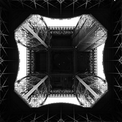 Under the Iron Lady's skirt (Vutana Kham) Tags: paris france tower tour under eiffel sous