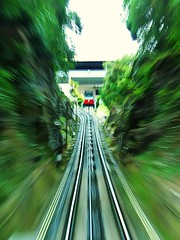 Eyes Test (Haryth Hayqal) Tags: motion blur tree green nature speed train landscape scenery bokeh fast move slowshutter penang