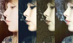 Smoking Collage (Mad Oak) Tags: girl face collage effects eyes skin smoke lips pale smoking blonde