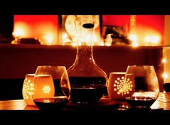 du vin rouge (Andrews-Photography) Tags: table glasses candles redwine fairylights vinrouge decanter canon500d canoneos500d