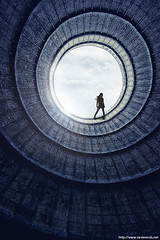 The Hole (never ends) Tags: sf blue sky woman tower illustration photomanipulation photoshop canon dark tour hole femme bleu ciel abandon urbanexploration photomontage minimalist 1022 trou abandonned wasteland cooling blackdress minimaliste friche explorationurbaine pur abbandonnedplaces refroissement sciencesfi