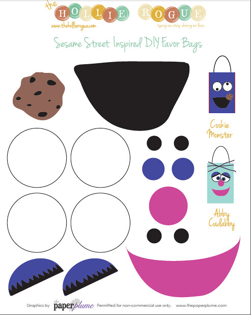 Sesame favor bag printables