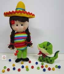 ♥♥♥ E depois da França, vem o México, também para o mesmo desafio... (sweetfelt \ ideias em feltro) Tags: france mexico bonecas dolls snake feitoàmão frança felt beaver mexique feltro castor canadá coq galo serpente poupées feutrine faitmain sepent