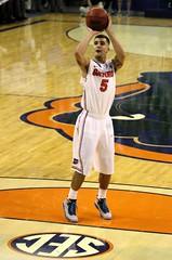 Scottie Wilbekin makes Both Free Throws Tied 58-58 (dbadair) Tags: basketball war university eagle florida gators auburn tigers sec uf 2014