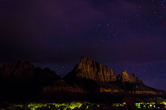 Night Watch (wrgenec) Tags: park travel camping sky night stars outdoors evening utah lowlight desert hiking national zion