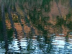 Banks Lake Reflections (Ramona H) Tags: light lake abstract reflection nature outdoors evening pattern bankslake steamboatrock