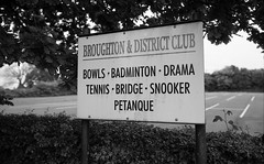 Broughton & District Club (Man with Red Eyes) Tags: monochrome sign sport analog zeiss blackwhite rangefinder lancashire preston broughton m6 leicam6 100iso homedeveloped adox silverhalide td201 silvermax anchelltroop a3minsb3mins continuousagitation distagont1435zm broughtondistrictclub