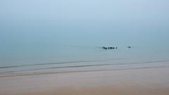 Saint-Malo (Corinne Queme) Tags: sea mer mist france beach brittany bretagne sillon minimalism extrieur plage saintmalo brume minimalisme longecote