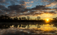Grand River Park sunrise..... (Kevin Povenz) Tags: morning trees sky sun lake cold reflection clouds sunrise early pond michigan ottawa may 2016 westmichigan ottawacounty jenison grandriverpark canon7dmarkii kevinpovenz ottawacountyparks