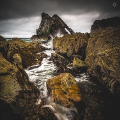 Channelled Power (Augmented Reality Images (Getty Contributor)) Tags: birds bowfiddlerock canon clouds coastline landscape leefilters longexposure lowtide morayshire portknockie primeval rocks scotland seagulls seaside seaweed water waves