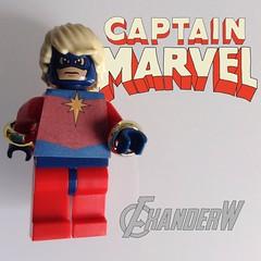 Captain Marvel (Mar-Vell) (FxanderW) Tags: lego decal superheroes custom marvel captainmarvel moc marvell