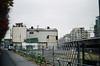 Morning of the cloudy day (yasu19_67) Tags: morning cloud film japan fence 50mm graffiti alley kodak railway osaka olympusom1 hankyu photooftheday filmphotography gold200 zuiko50mmf18 filmism