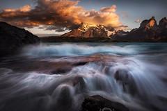 Rapture (Bruce_Hood) Tags: patagonia seascape motion colour water clouds sunrise landscape flow